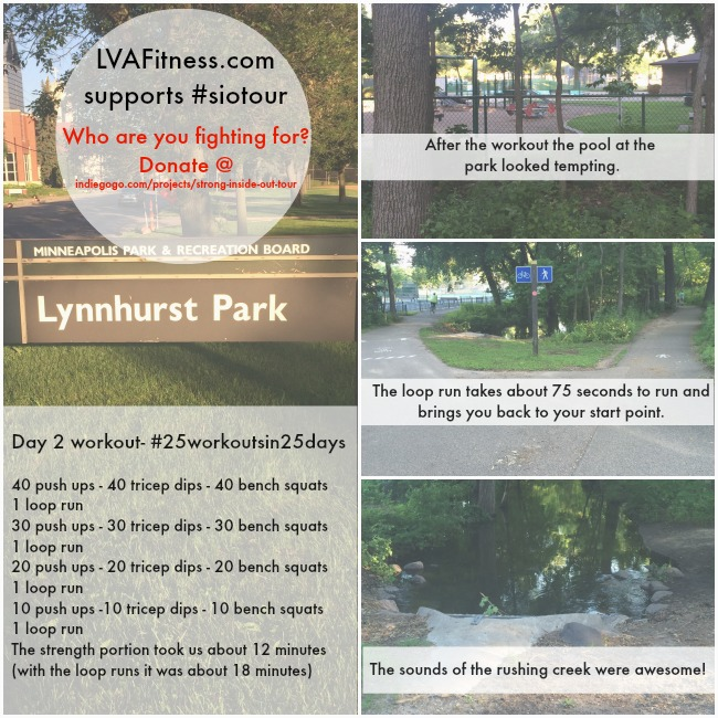 day two Lynnhurst park workout