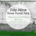 Day Nine Three Ponds Park: 25 Workouts In 25 Days