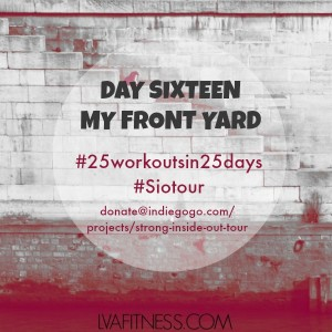day sixteen my front yard workout home
