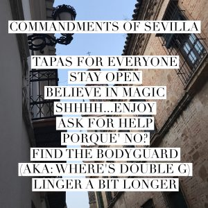 Commandments Of Sevilla
