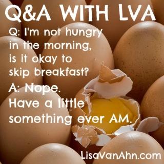Can I skip breakfast?